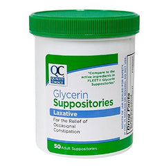 Quality Choice Glycerin Suppositories Laxative 50 Count Each