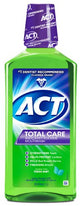 ACT Total Care Anticavity Fluoride Mouthwash Fresh Mint 33.8Ounce Each