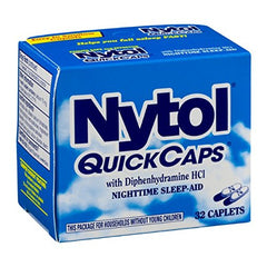Nytol Nighttime Sleep Aid Quick Capsules 32