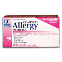 Quality Choice Allergy Relief Antihistamine Medicine 100 Capsules Each