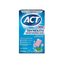 Act Dry Mouth Moisturizing Gum Bubble Fresh 2o Pieces