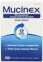 Mucinex 12-Hour Chest Congestion Expectorant Tablets 600mg 100 Count
