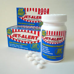 Jet Alert 100MG Each Caffeine Tablet 120 Count Each