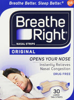 Breathe Right Original Nasal Strips 30 Large Tan Strips