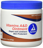 Dynarex Vitamin A&D Ointment  15  Ounce. Jar (For Skin  Rash  Tattoo  Small Burns)