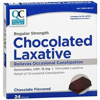 Quality Choice Regular Strength Chocolate Laxative 24 Count Each