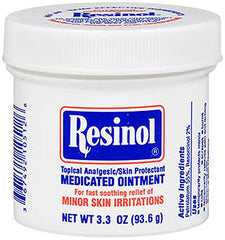 Resinol Medicated Ointment for Skin Irritattions 3.3 Ounce Each
