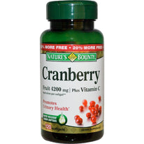 Nature's Bounty Cranberry Fruit 4200 mg Plus Vitamin C Softgels 120 Each