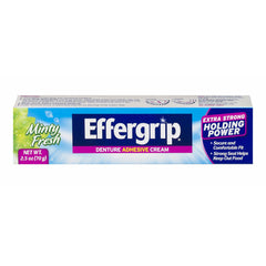 Effergrip Extra Strong Denture Adhesive Cream Zinc Free 2.5 Ounce Each