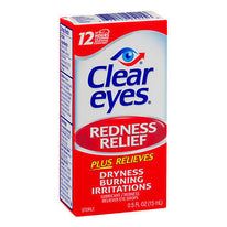 Clear eyes Redness Relief Eye Drops .5 fl Ounce (15 ml) Each
