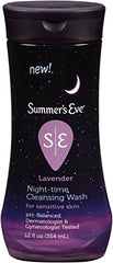 Summers Eve Night Time Sensitive Skin Cleansing Wash Lavender 12 Ounce Each