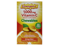 Emergen-C 1,000 mg Vitamin C Dietary Supplement Orange Blast Chewables 40 Tabs