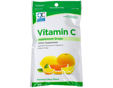 Quality Choice Vitamin C Dietary Supplement Drops Citrus Flavor 30 Count