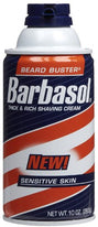 Barbasol Sensitive Skin Thick and Rich Shaving Cream 10 Ounce Each
