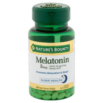 Nature's Bounty Melatonin 5mg 90 Softgels Each