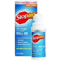 Stopain Extra Strength Pain Relieving Roll-on 3 Ounce Each
