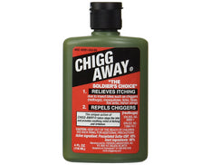 Chigg Away Relieves Itching and Repels Chiggers, Mosquitos, Ticks, Fleas 4 oz