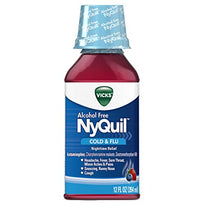 Vicks NyQuil Cold & Flu Alcohol Free Berry Flavor 12 Ounce
