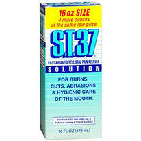S.T.37 First Aid Antiseptic Oral Pain Reliever Solution 16 Ounce