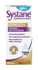 Systane Complete Lubricant Eye Drops 10mL Ounce each
