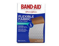 BAND-AID Flexible Fabric Bandages Extra Large 10 Each