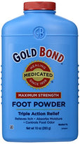 Gold Bond Foot Powder Medicated Maximum Strength 10 Ounce Each
