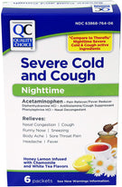 Quality Choice Nighttime Severe Cold & Cough Honey Lemon Packets 6 ea