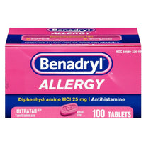 Benadryl Allergy 25mg Ultratab 100 Tablets