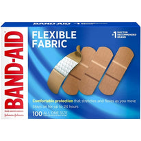 "Johnson & Johnson Flexible Fabric Adhesive Bandages, 1"" x 3"" - 100 per Box"