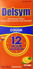 Delsym 12 Hour Cough Relief Orange Flavor 5 Ounce