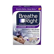 Breathe Right Drug Free Lavender Scented Nasal Congestion Strips 26 Each