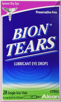 Bion Tears Lubricant Eye Drops Single Use Vials 28 Count