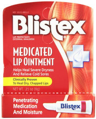 Blistex Medicated Lip Ointment for Dryness and Cold Sores 0.21 Ounce Each
