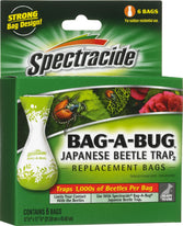"Spectrum HG-16903-6 ""Bag-A-Bug"" Replacement Bags - 6 Pack Japanese Beetle Trap"