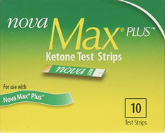 Nova Max Plus Blood Ketone Test 10 Strips Per Box