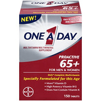 One A Day ProActive 65+ For Men & Women Multivitamin 150 Tablets