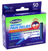 DenTek Adult Instant Pain Relief Kit Maximum Stregnth 50 Each