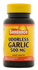 Sundance Odorless Garlic 500mg Tablets 90 Count Each