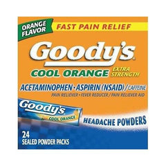 Goody's Cool Orange Extra Strength Headache Powder 24 Sealed Packets