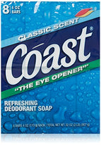 Coast Classic Deodorant Soap 4 Ounce 8 Bars Count Each