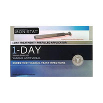 Monistat 1 Day Treatment Prefilled App. Vaginal Antifungal Tioconazole 6.5%