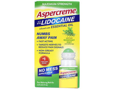 Aspercreme Maximum Strength Lidocaine Rosemary Mint Aromatherapy 2.5 fl oz