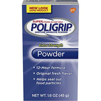 Super Poligrip Extra Strength 12h Denture Adhesive Powder 1.6 Ounce