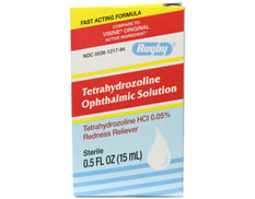 Rugby Tetrahydrozolinine Opthalmic Solution Eye Redness Reliever 0.5 oz