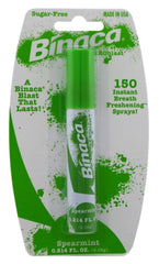 Binaca Aerosol Breath Spray SpearMint 0.20Ounce Each