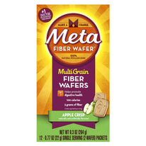 Metamucil MultiGrain Fiber Wafers Apple Crisp 12 Packets