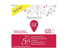 Summer's Eve Blissful Escape Cleansing Cloths On the Go 16 Individually Wrapped Cloths