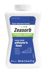 Zeasorb Antifungal Treatment Powder Athletes Foot 2.5 Ounce