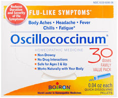 Boiron Oscillococcinum Flu-like Symptoms Pellets 30 Count 0.04  Ounce Each