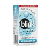 Blink Tears Lubricating Eye Drops Mild Moderate Dry Eye 0.5 Fl Ounce Sterile